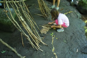 Children create natural art l