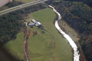 Al-Len Farm from the air