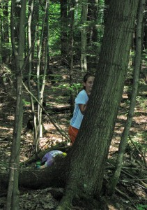 Campers trying to blend in during Camouflage.