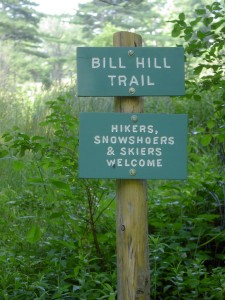 Bill Hill Trail signs