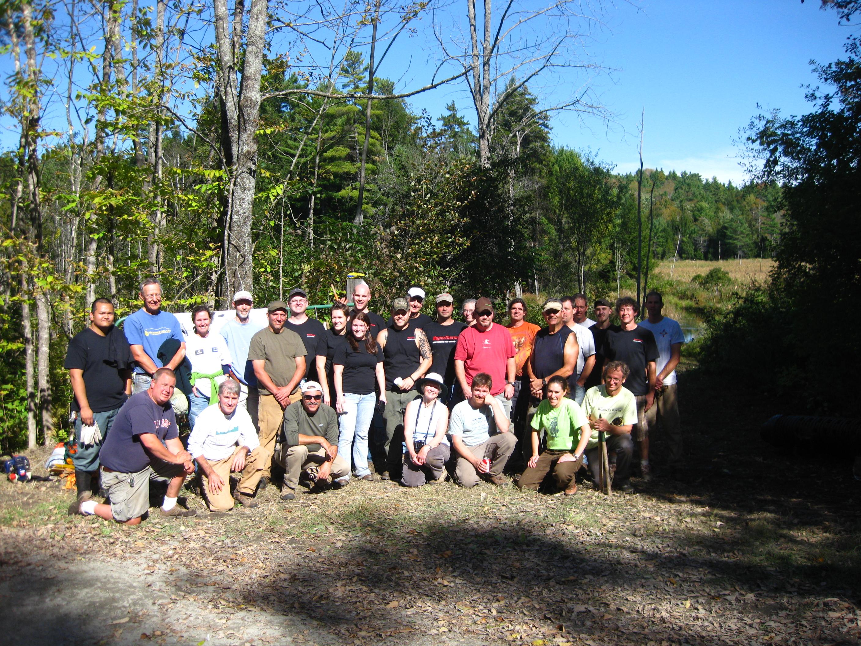 Trail Work Day One Volunteers!
