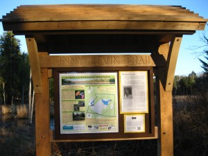 Linny Levin Trail kiosk unveiled.