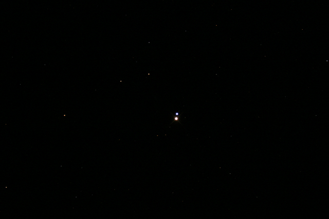 Alberio Binary Star System  Photo taken by Rachel Allen