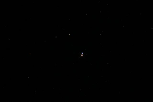 Alberio Binary Star System  Photo taken by Rachel Allen