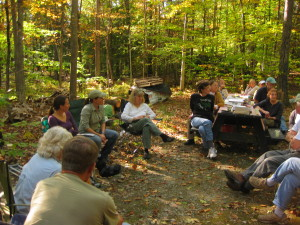 forest walk and talk group