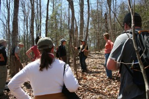 Ecologist Tii McLane leads a field session at UVLT's 2013 Naturalist Training Program.