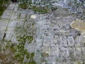 Rock carvings tell of a young bride lost in the forest in 1779.