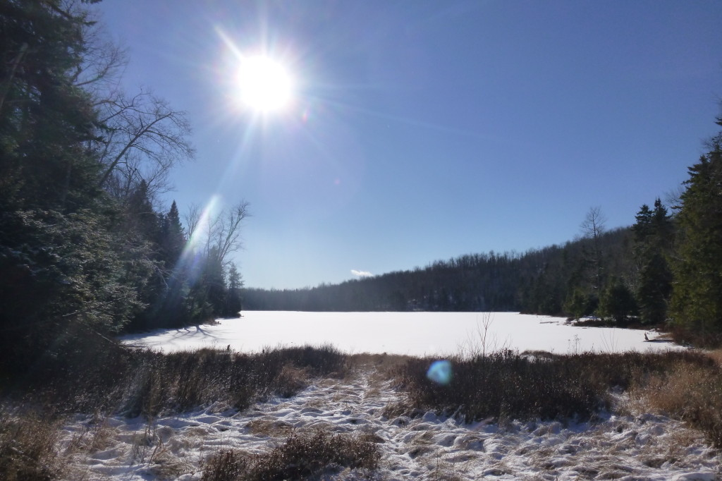 Leavitt Pond near an area once home to a thriving hilltop community.