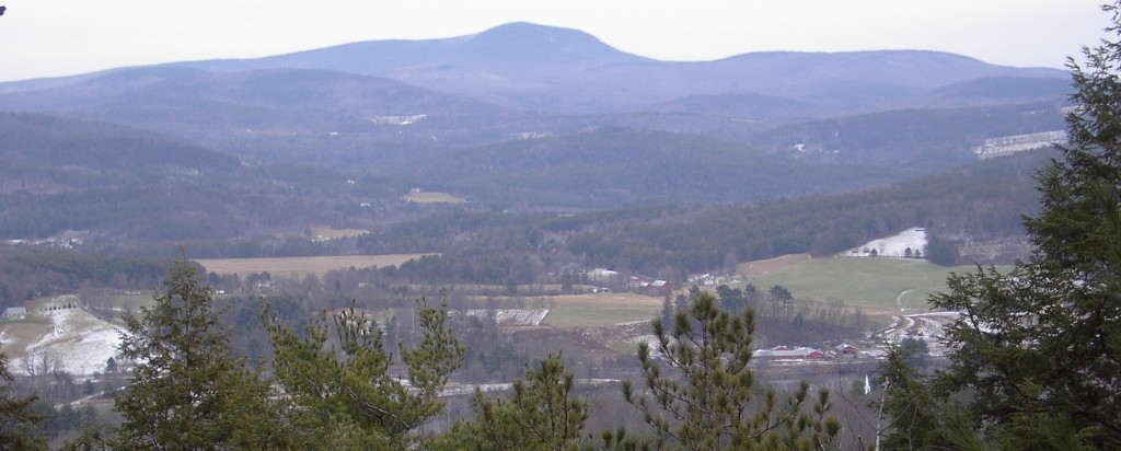 In many locations the eastern margins of the upland portions of the property are abruptly edged with bands of cliffs. At several points there are fine views east across the Connecticut River valley to the mountains of NH.