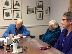 Lysle Chase signs the conservation easement deed.