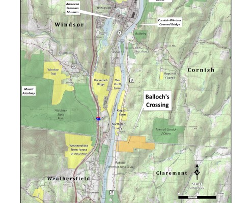 Balloch's Crossing location map. Click image to enlarge.