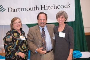 Doug Wise accepts the Hanover Area Chamber of Commerce Achievement Award with his wife, Joanne (left) and UVLT President  Jeanie McIntyre.