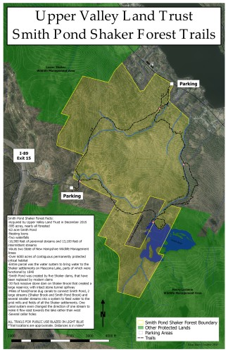 Smith Pond Shaker Forest Trails map