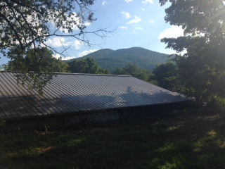 back of shed with ascutney